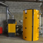 domestic biomass boiler installation
