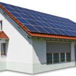 domestic solar panels on house